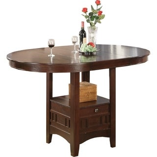 Lavon Casual Counter Height Storage Table   Brown