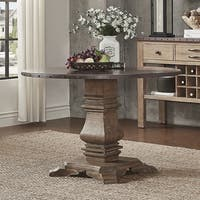 Voyager Wood and Zinc Balustrade 45-inch Round Dining Table by iNSPIRE Q Artisan