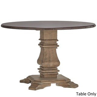 Voyager Wood and Zinc Balustrade 45-inch Round Dining Table by SIGNAL HILLS