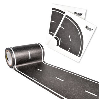 PlayTape Classic Road Series 30 ft. x 4 in. Black Road with 4 Tight Curves