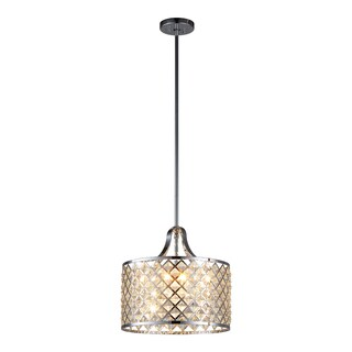 OVE Decors Baker I Chrome-finished Iron LED-integrated 4-light Pendant Light