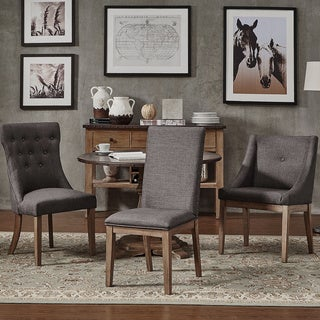 SIGNAL HILLS Voyager Wingback Nailhead Tufted Dining Chairs ( Set of 2)