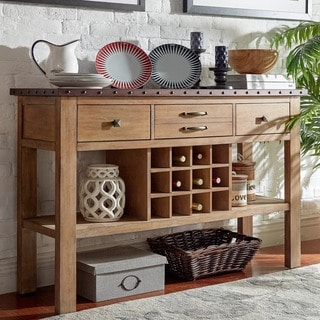 SIGNAL HILLS Voyager Wood and Zinc Balustrade Console Buffet Server