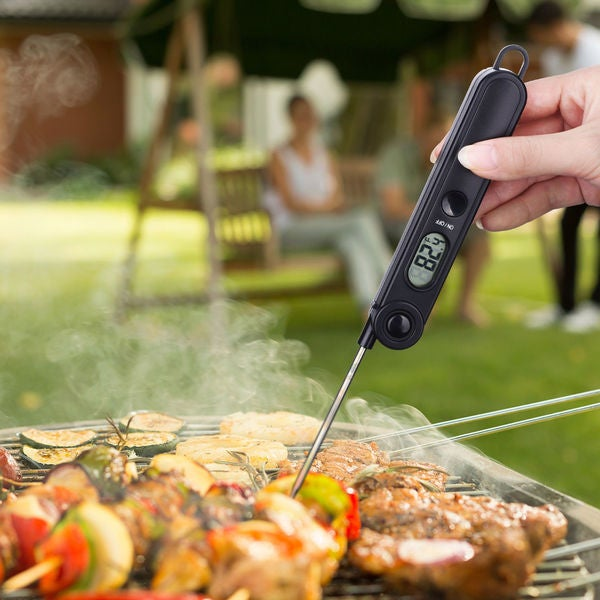 Black Instant Read Digital Food and Meat Thermometer