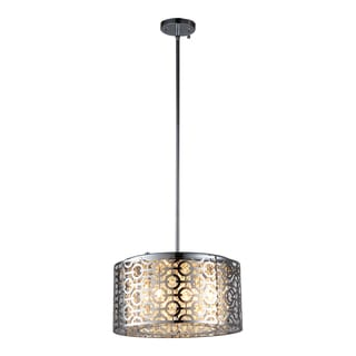 OVE Decors Ashcombe I Chrome-finish Integrated-LED Pendant
