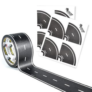 PlayTape Classic Road Series Bundle 60 ft. x 2 in. Black Road with 8 Tight Curves|https://ak1.ostkcdn.com/images/products/12611696/P19406119.jpg?impolicy=medium