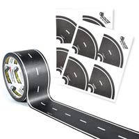 PlayTape Classic Road Series Bundle 60 ft. x 2 in. Black Road with 8 Tight Curves