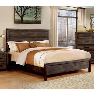 Furniture of America Barrison Industrial Dark Grey Panel Bed