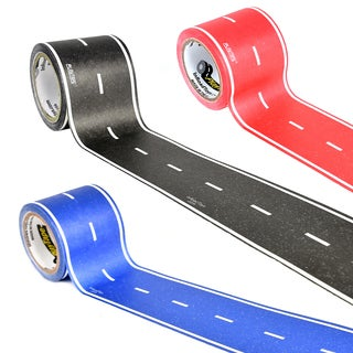 PlayTape Classic Road Series 3 pack bundle includes 30 ft. x 2 in. Black, Blue and Red Road