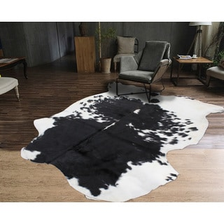 High Quality 100% Argentinean Natural Cow Hide White Black (5'x7')