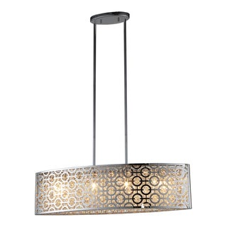 OVE Decors Ashcombe II Chrome-finish LED Integrated Pendant