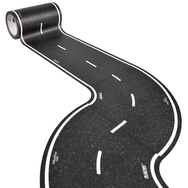 PlayTape Classic Road Series 30 ft. x 4 in. Black Road with 6 Tight 4 in Curves