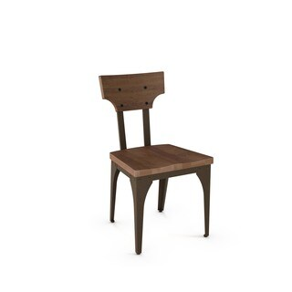 Carbon Loft Kettering Metal Chair with Distressed Wood Seat and Backrest (Set of 2)