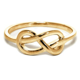 Eternally Haute 14k Goldplated Solid Sterling Silver Love Knot RIng