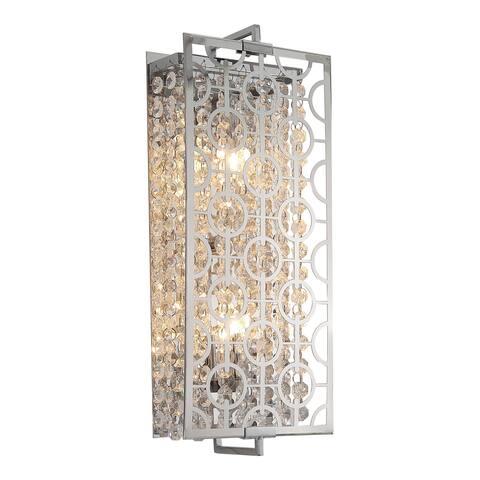 OVE Decors Ashcombe III Chrome Finish Iron LED Integrated 2-light Sconce
