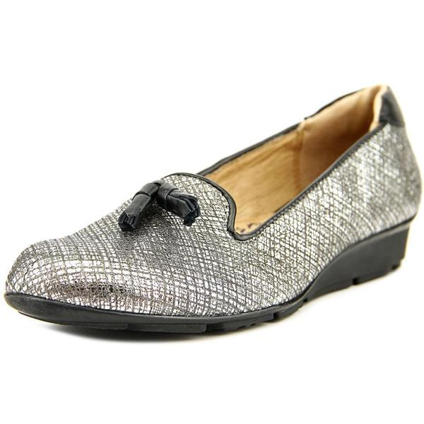 Silver leather dress shoes
