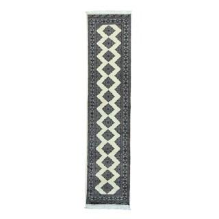 Jaldar Design Bokara Hand-Knotted Runner Rug (2'7 x 11'3)