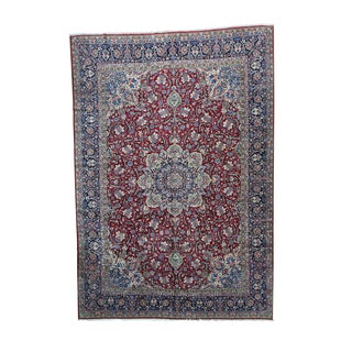 1800getarug Semi-antique Persian Kerman Multicolored Full-pile Wool Oversize Rug (11'3 x 16')