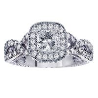 14k White Gold 1 4/5ct TDW Princess-cut Diamond Engagement Ring