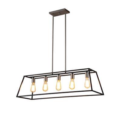 OVE Decors Agnes II Black & Bronze Finish with E26 LED bulb Pendant