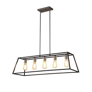 OVE Decors Agnes II Iron LED Integrated Pendant