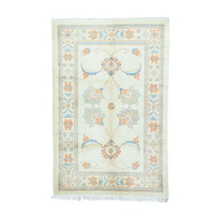 1800getarug Persian Ardabil Ivory Wool Hand-knotted All-over Design Rug (5'4 x8'1)