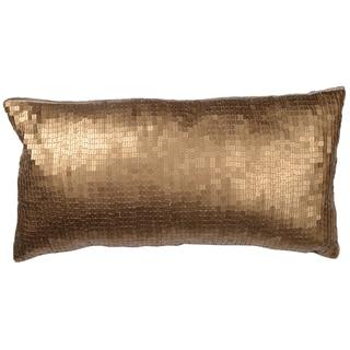 Dashiell Copper Beaded Linen 14-inch X 20-inch Throw Pillow