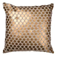 Dashiell Copper-beaded Linen 22-inch x 22-inch Square Throw Pillow
