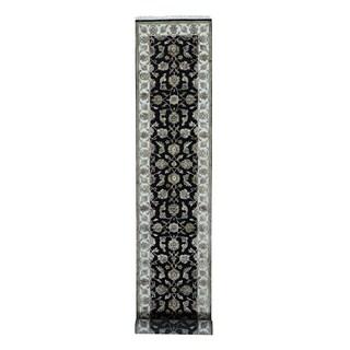 1800getarug Rajasthan Half Wool/Half Silk Oriental Runner Rug (2'7 x 14')