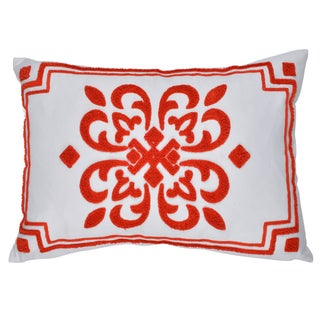 Embroidered 14 x 20-inch Throw Pillow