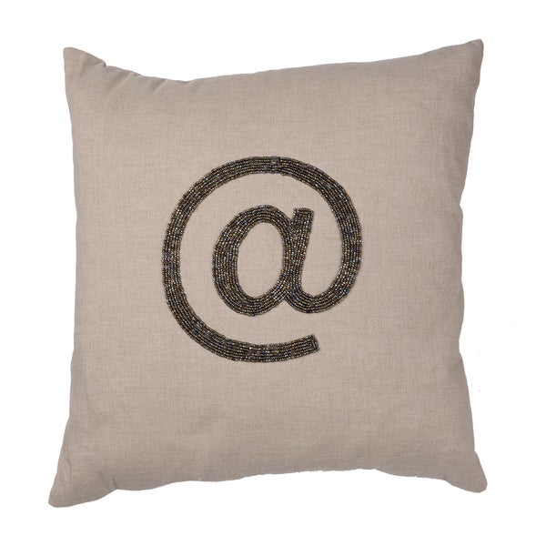 Shop Dashiell Type Symbols Throw Pillows Set Of 40 Free Shipping New Types Of Decorative Pillows