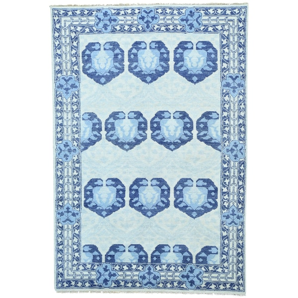 1800getarug Modern Hand-knotted Hand-spun Wool Oriental Rug (6' x 8'10)
