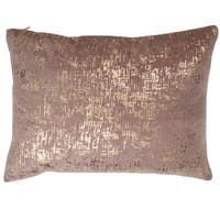 Dashiell Pink Silver Beaded 14 x 20-inch Throw Pillow
