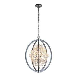 OVE Decors Pena Chrome Finish Iron LED Integrated Chandelier