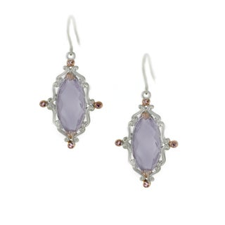 One-of-a-kind Michael Valitutti Pink Amethyst and Pink Sapphire Hook Earrings