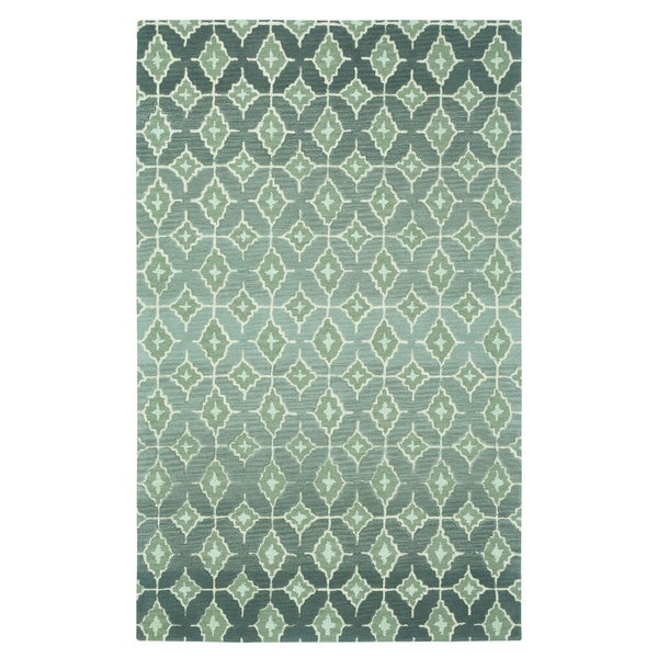 Kevin O'Brien Rossio Grey Rectangle Hand-tufted Wool Rug (3' x 5')