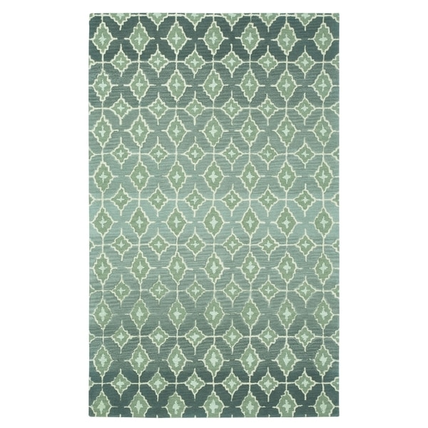 Kevin O'Brien Rossio Grey Rectangle Hand-tufted Wool Rug - 3' x 5'