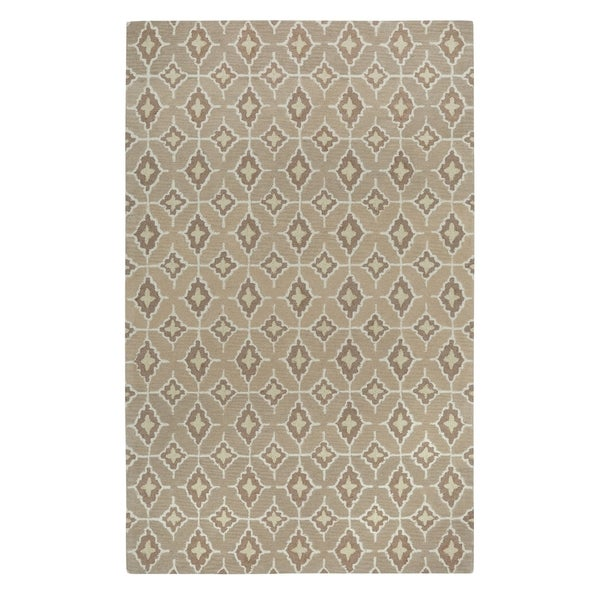 Kevin O'Brien Rossio Biscuit Yellow/ Beige Hand-tufted Rectangle Wool Area Rug (3' x 5') - 3' x 5'