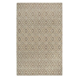 Kevin O'Brien Rossio Biscuit Yellow/ Beige Hand-tufted Rectangle Wool Area Rug (3' x 5')