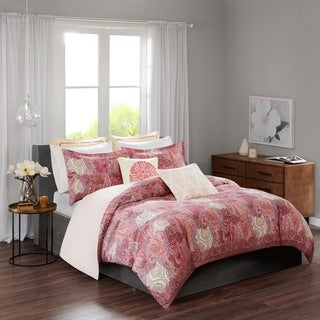 Echo Design Florentina Pink Cotton Sateen Printed Duvet Mini Set