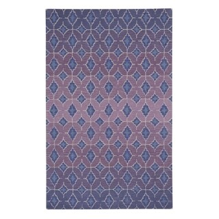 Kevin O'Brien Rossio Purple Rectangle Hand-tufted Wool Area Rug (3' x 5')