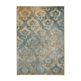 Kevin O'Brien Cavalcade-Adriatic Blue Olefin Woven Rug (3'11 x 5'5)