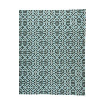 Kilim Oriental Light Green Hand-woven Reversible Rug (9'3 x 12')
