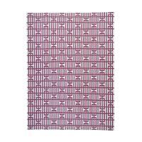 Reversible Kilim Purple/Ivory Wool Oriental Rug - 9'1 x 12'2
