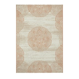 Machine-woven Genevieve Gorder Elsinore-Mandala Cinnamon Rectangular Rug (3'11 x 5'6)