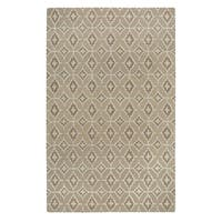 Kevin O'Brien Rossio Biscuit Yellow Rectangular Hand-tufted Rug (5' x 8') - 5' x 8'
