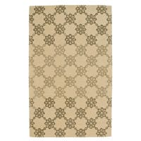 Kevin O'Brien Link Butter Rectangle Hand-tufted Rug (5' x 8') - 5' x 8'