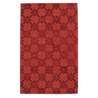Kevin O'Brien Cardinal Wool Rectangle Hand-tufted Rug (5' x 8') - 5' x 8'