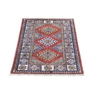 1800getarug Super Kazak Tribal-design Multicolored Hand-knotted Wool Oriental Carpet (2'1 x 2'8)