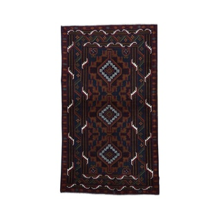Afghan Baluch Tribal Design Wool Oriental Carpet (3'9 x 6'8)